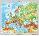 Európa =  všeobecná zemepisná, laminovaná, lištovaná