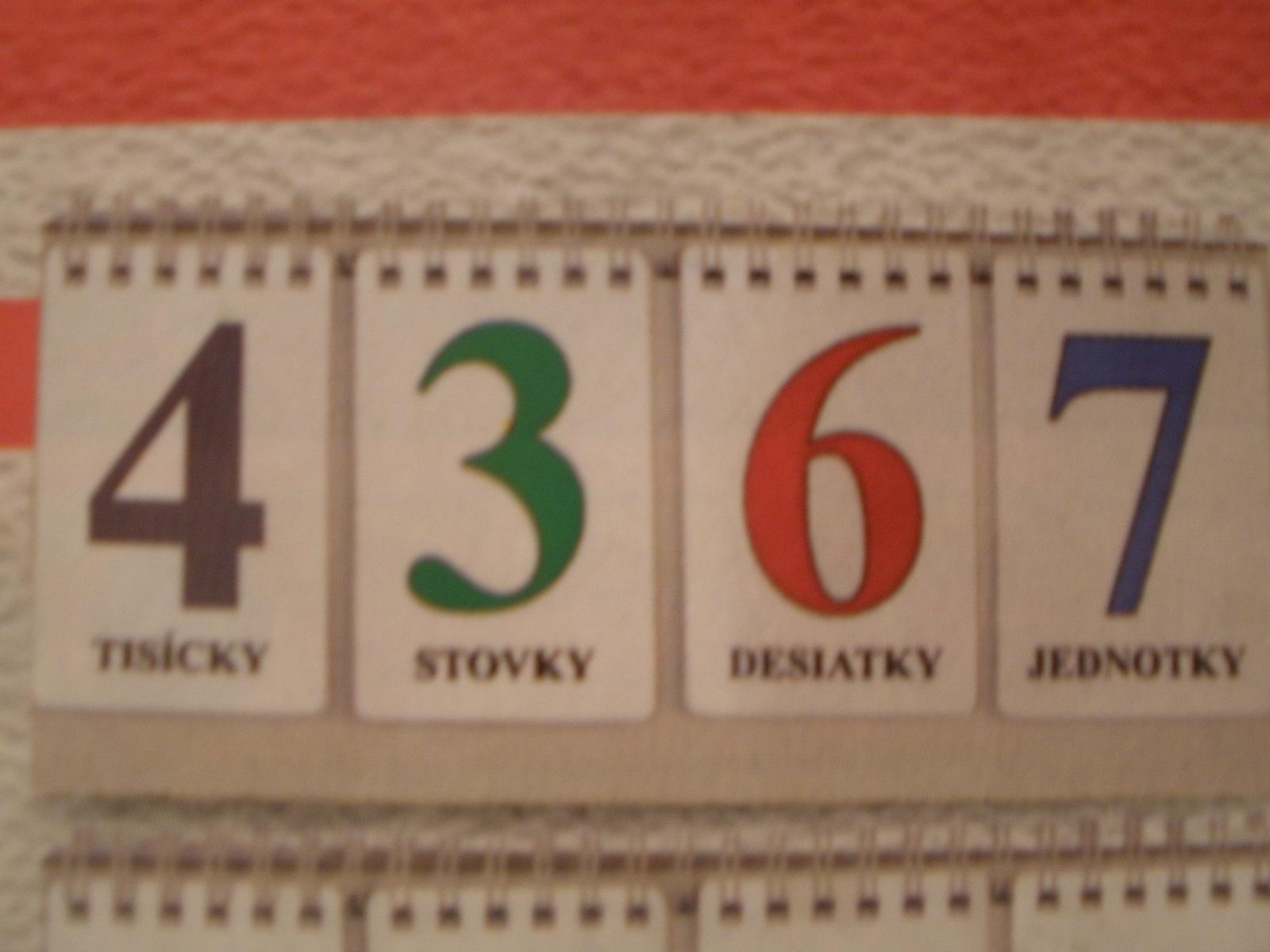 Číselný kalendár - čísla