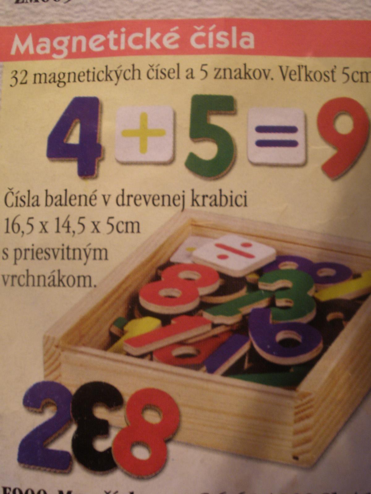 Magnetické čísla k magnetickej tabuľi
