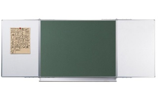 Magnetic Triptych  Štandard,biele alebo zelená v lubovolnej kombinacií, keramicke, magnetické 240x90 cm