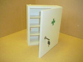 Školská lekárnička (Obal drevený uzamykateľný)