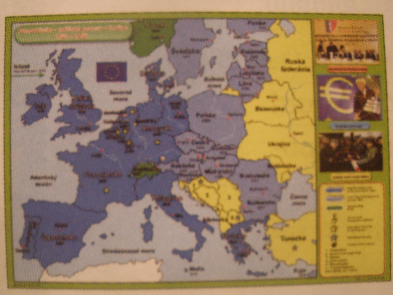 Hospodársko- politické pomery vEurópe 1989 - 2007