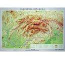 Mapa Slovenskej republiky, obojstranná - DUO, predná strana všeobecno-geografická mapa a zadná strana slepá mapa