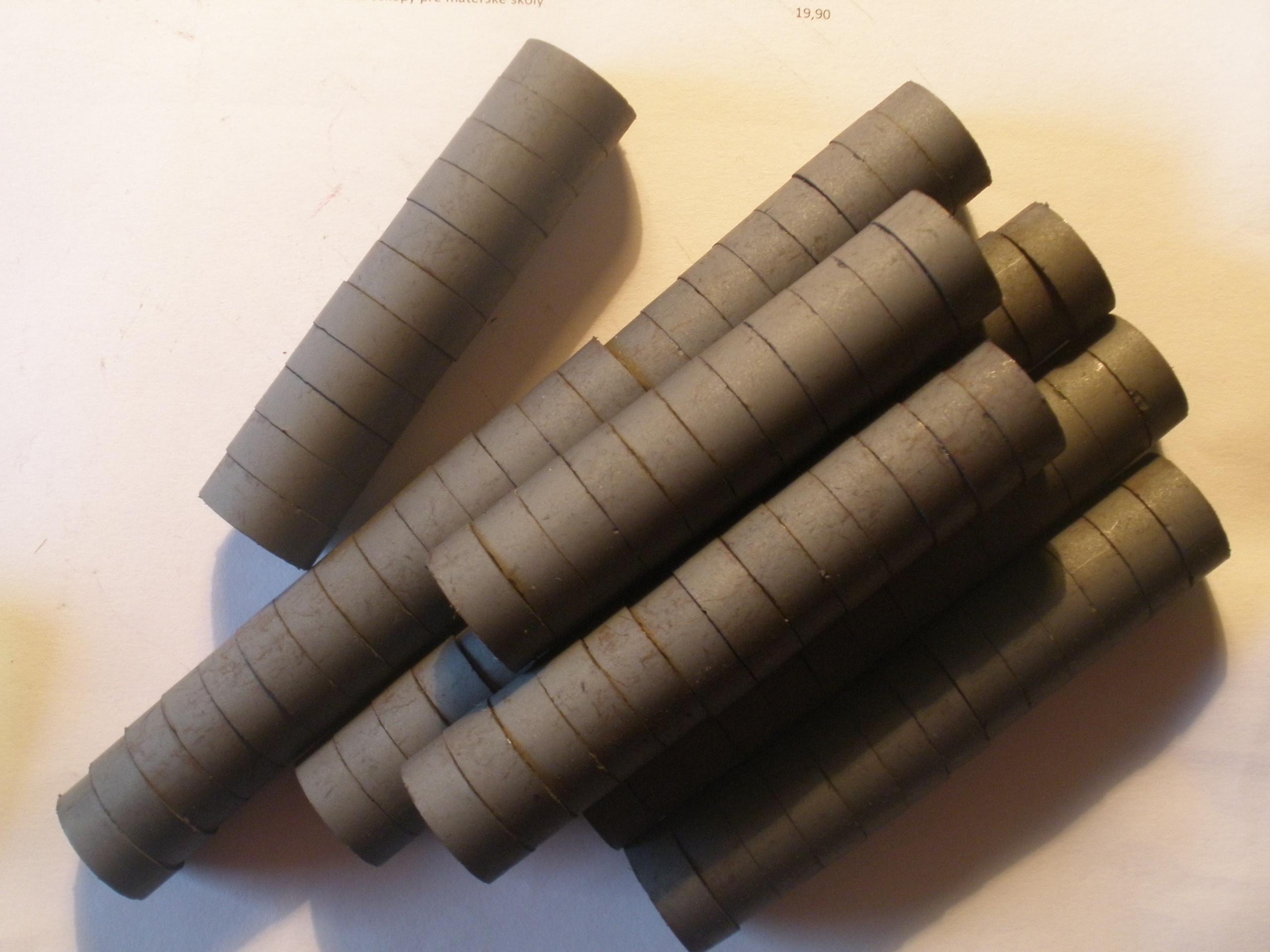 Magnetky,priemer 15mm,100ks