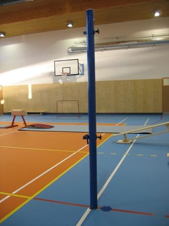 Volejbalová konštrukcia = do puzdier alebo na stenu, priemer 60,3 cm
