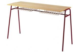 Školská lavica dvojmiestna KLASIC, č.3-6 s drôtenou policou