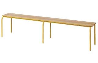 Šatňová lavica Klasic s drevenou sedacou časťou , dlžka 3000mm