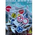 Dopravné značky, 21 ks, použitie na stole