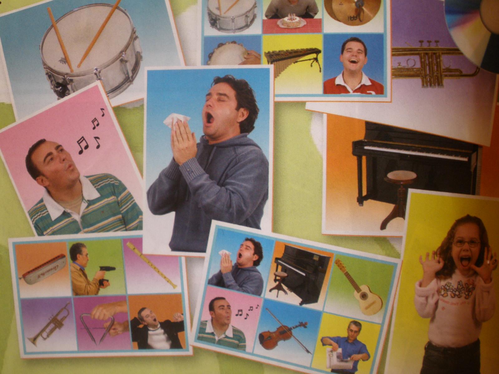 Zvuky rôznych hudobných nástrojov (25 ks karty + CD)
