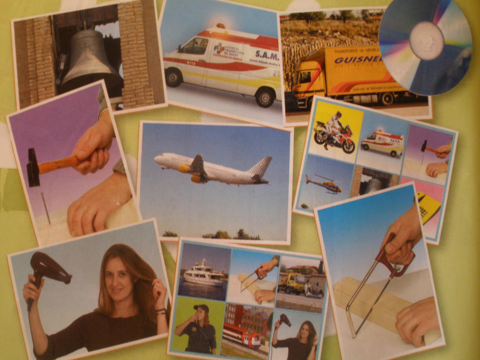 Zvuky rôznych predmetov (25 ks karty  + CD)