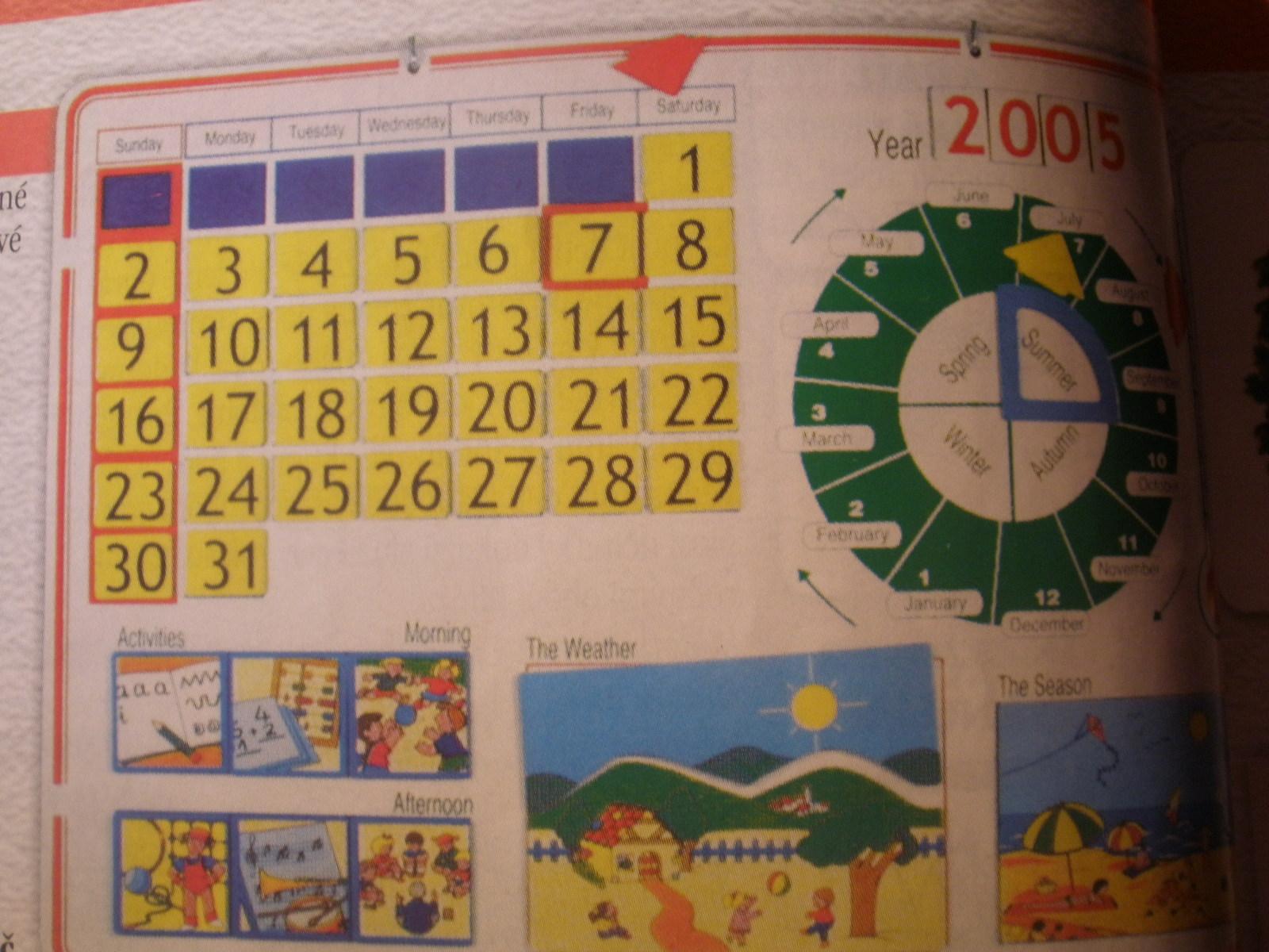 Kalendár prírody (1 magnet.tabuľa, 30 ilustrácií, 53 kariet, metodický materiál)