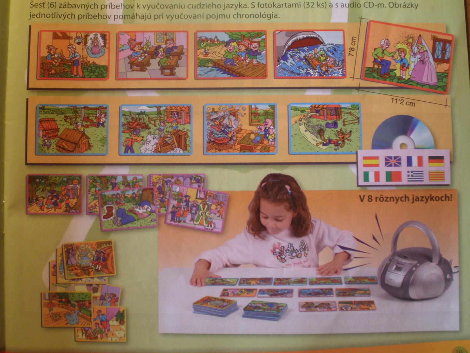 Zábavné príbehy kvyuč.cudzích jazykov (CD + karty)