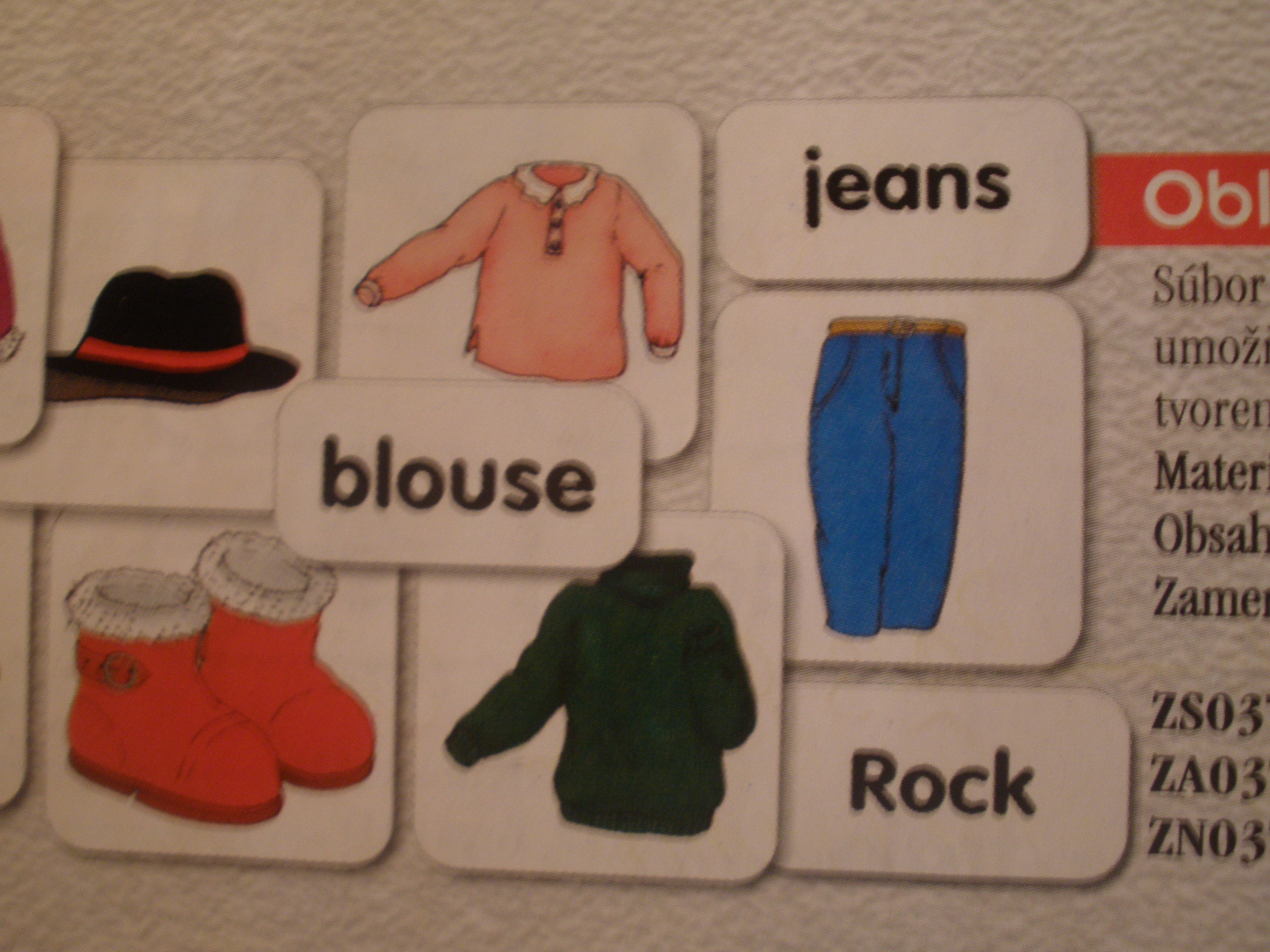 Oblečenie – anglický jazyk P042