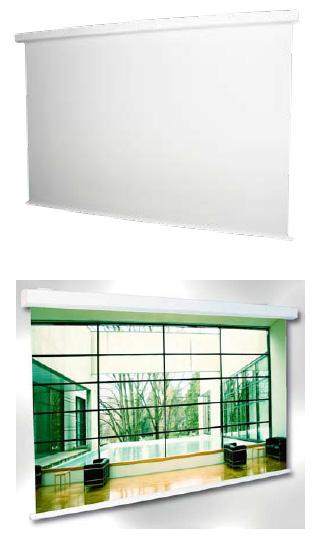 Elektrické premietacie plátno nástenné 200x200 cm