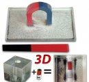 Súprava 2-3 rozmerných magnetických siločiar