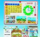 Magnetický školský kalendár prírody v nemeckom jazyku
