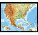 Spojené štáty Americké - všeobecnogeografická mapa