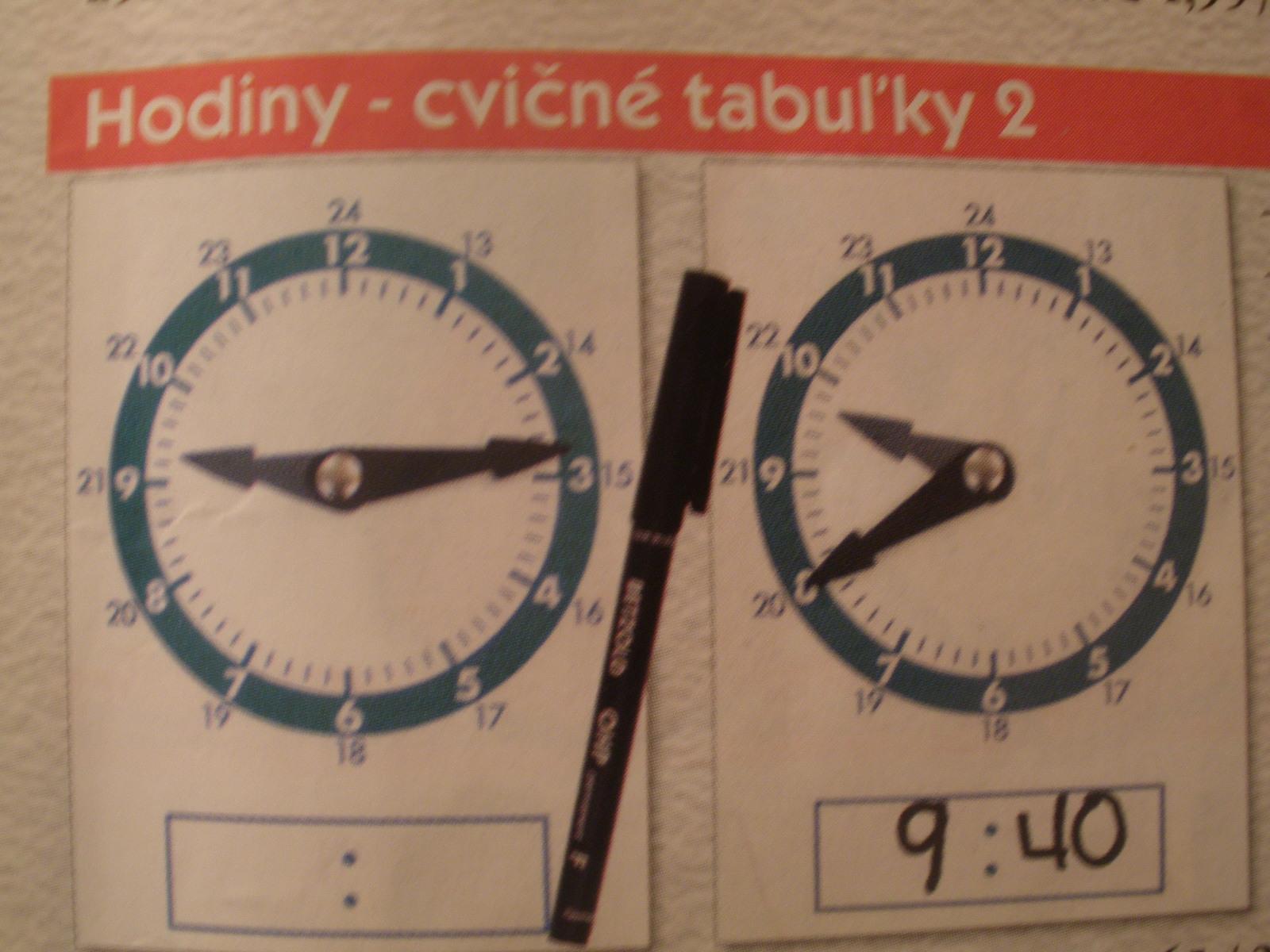 Kartičky na precvičovanie času, 10ks