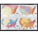 Vývoj štátov USA od roku 1783-hist. mapa
