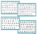 Písmená -Súprava nástenných tabúľ, 4 ks