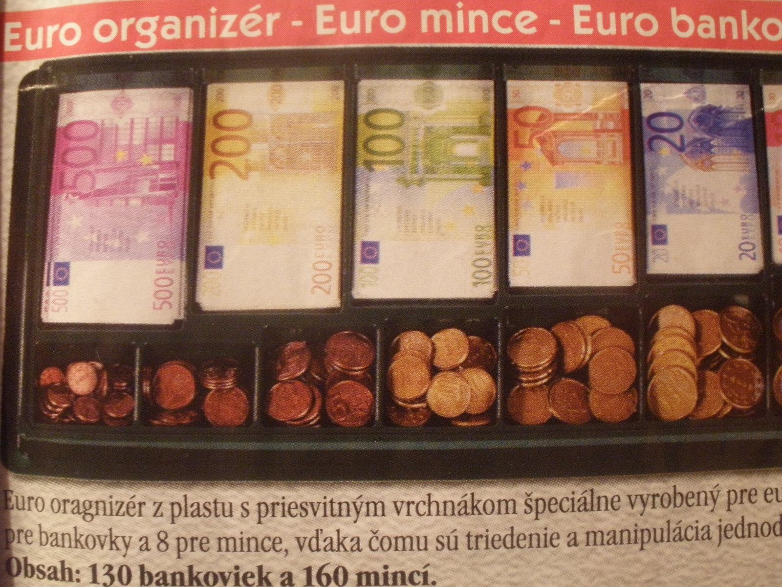 Euro organizér