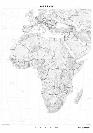 Slepa Mapa Afriky Zemepis Ucebne Pomocky
