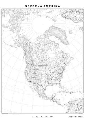 Slepa Mapa Severnej Ameriky Zemepis Ucebne Pomocky