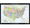 Spojené štáty Americké - všeobecnogeografická mapa, zadná strana politická mapa