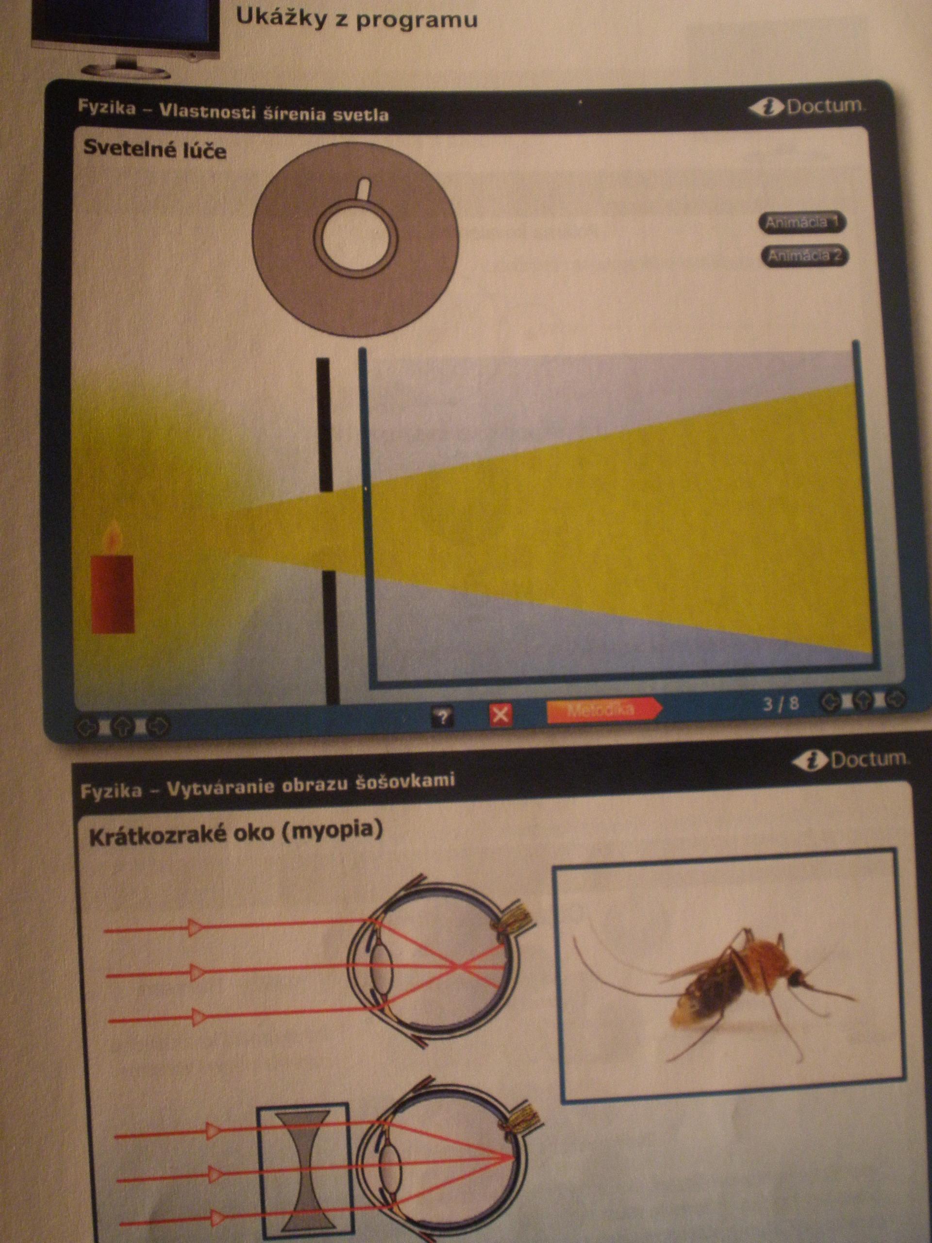 Interaktívny software Fyzika Optika
