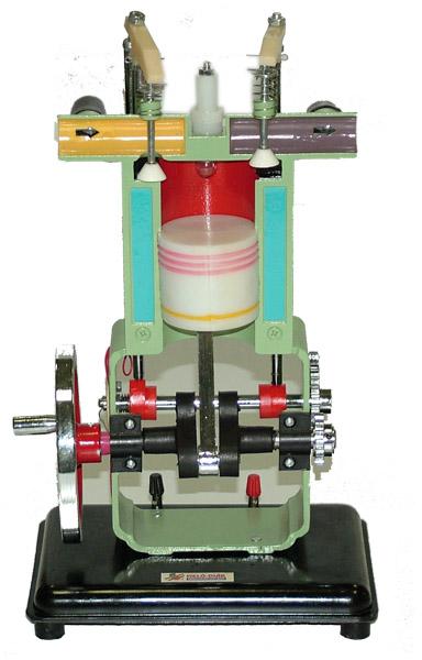 Štvortaktný zážihový motor=funkčný model