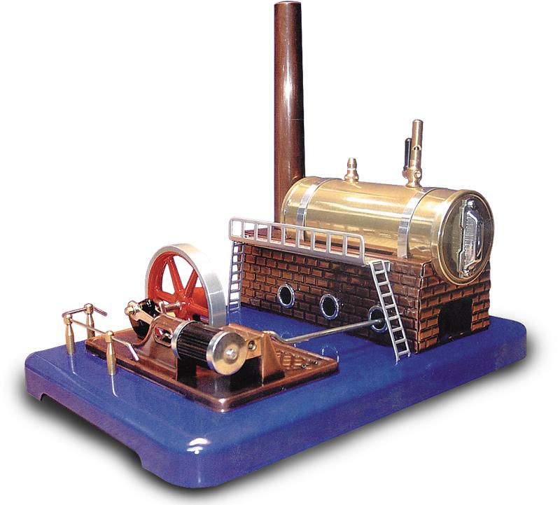 Parný stroj s poistným ventilom=funkčný model