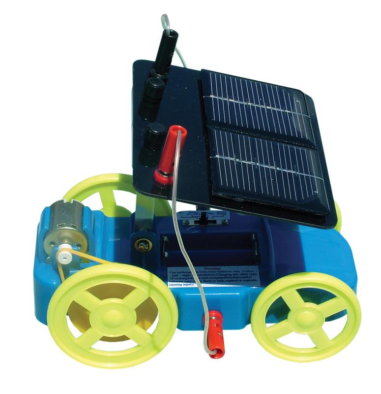Autíčko so solárnym článkom, motorom