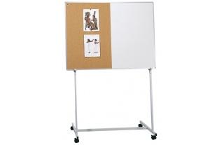 Stojan na kolieskach k tabuli, 180x120cm(bez tabule) spoistným nadstavcom  na horné upevnenie tabule